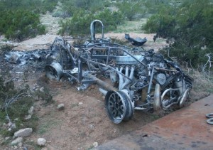 Pinal County investigators said a 21-year-old man was driving this car when it wrecked and killed a 27-year-old woman who was trapped inside. (Photo: Pinal County Sheriff's Office)