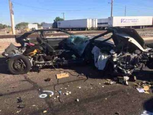 Two people were killed in a crash early Sunday morning near Avondale Boulevard and Maricopa 85. (Photo: Maricopa County Sheriff's Office)