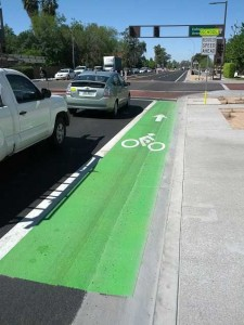 under-sized Bike Lane